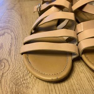 Breckelles Shoes - Breckell's strap sandals (nude color) // gladiator